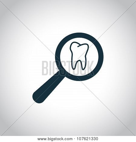 Tooth examination sign