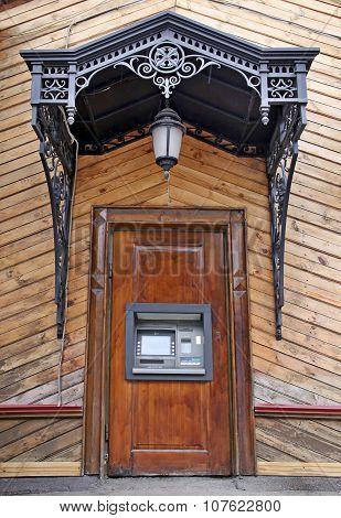 ATM machine, designed in Russian retro style