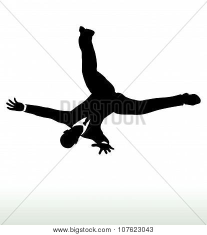 Silhouette Of Businessman Falling