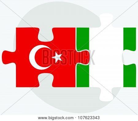 Turkey And Nigeria Flags