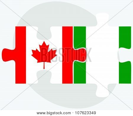 Canada And Nigeria Flags