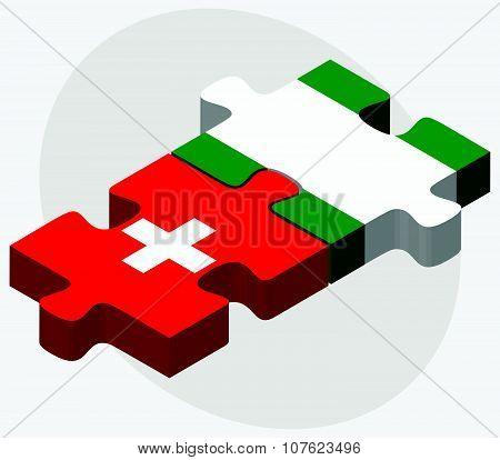 Switzerland And Nigeria Flags