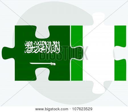 Saudi Arabia And Nigeria Flags