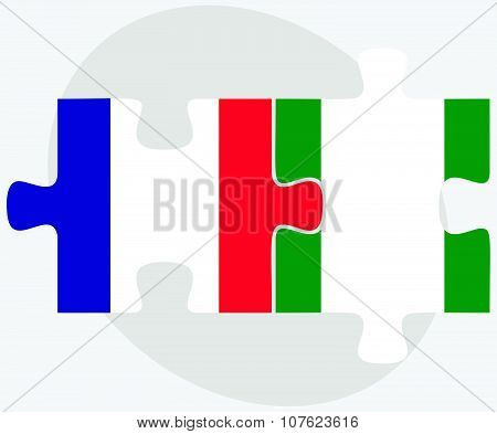 France And Nigeria Flags