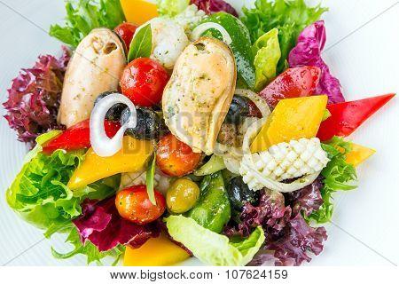 Greek Seafood Salad bowl cuisine
