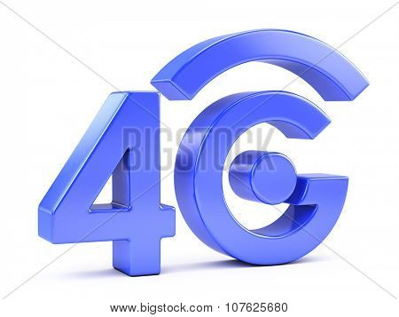 4G icon isolated on white