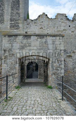 Gates Of Rudelsburg Castle, Germany