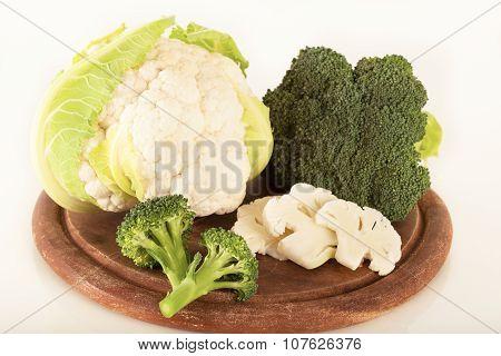 Delicious broccoli and cauliflower