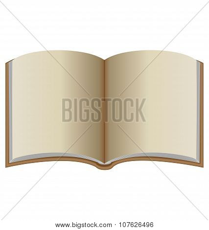 Open Book With Brown Cover