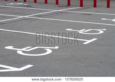 Invalid Signs On Parking Asphalt