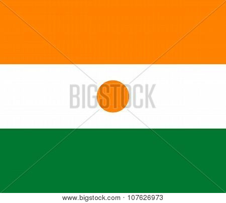 National Flag Of Republic Of Niger - Official Proportions And Colors