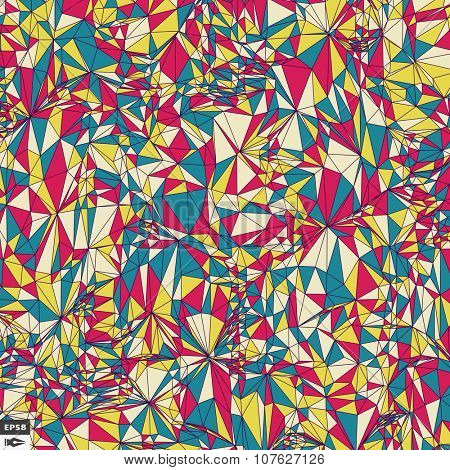 Colorful Pixels Mosaic. Abstract Background. Polygonal Vector Illustration.