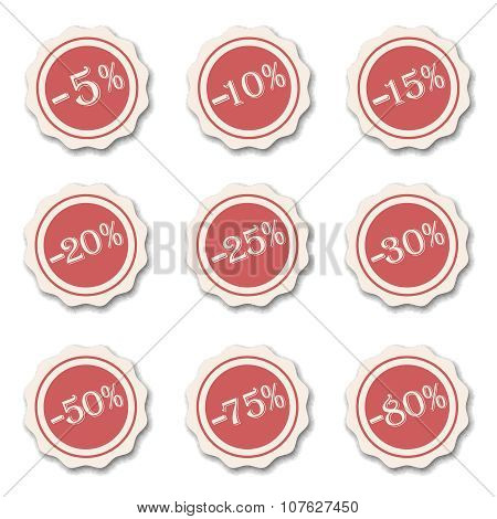 Discount sale product special offer retro color sticker