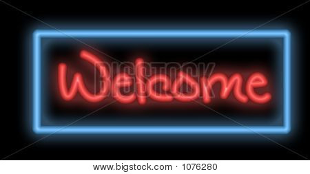 Neon Signboard - Welcome