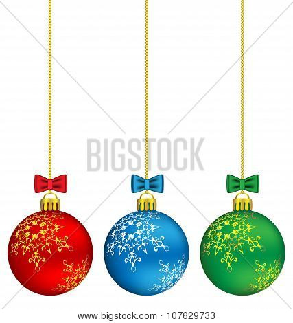 Christmas Balls On Chain