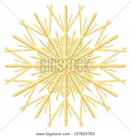 Straw Star Christmas Tree Ornament