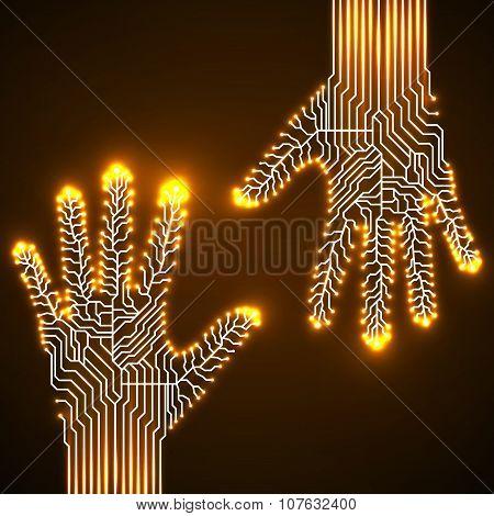 Circuit  Board Hands
