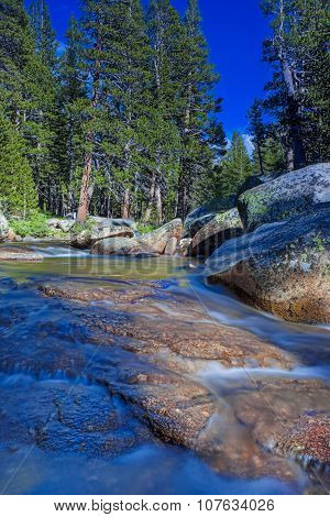 Fantastic Water Streams Photographed In Yosemite National Park In California. Long Shutter Speed Use