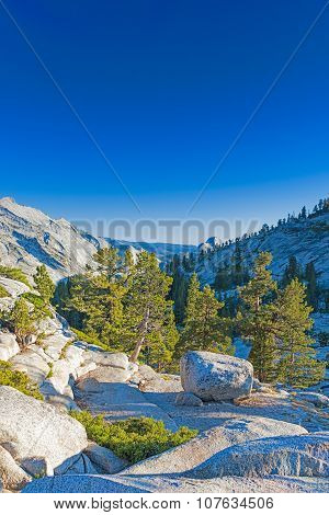 Incredible Mountain Rock Formations In The World Famous Yosemite National Park In California, United