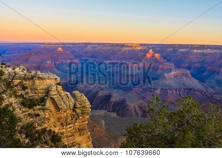 Serene Sunrise At Grand Canyon