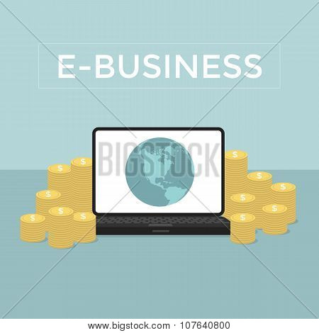 E-Business Make money from computer and internet