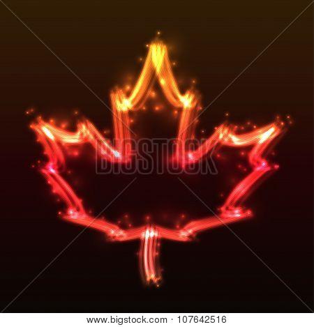Plasma Maple Leaf