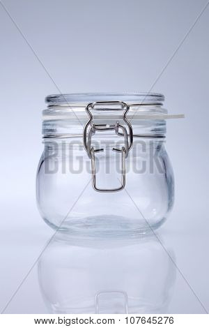 air thight jar on the white background