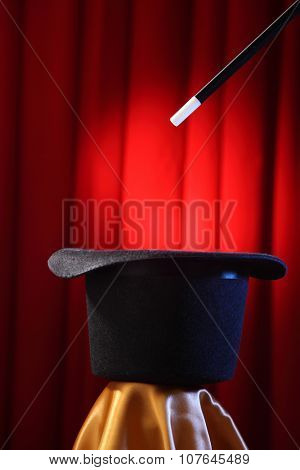 top hat with the magic wand