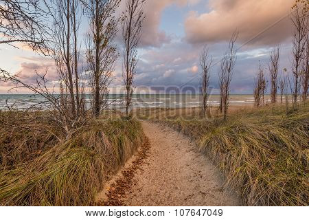 Path To A Lake Huron Beach