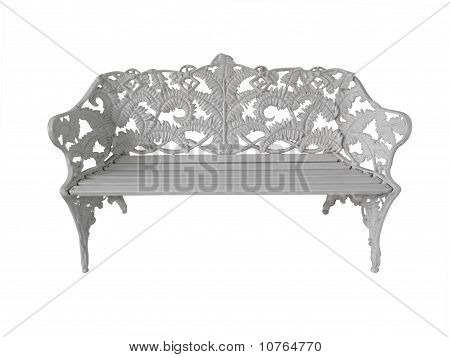 Wrought Iron Bench Seat
