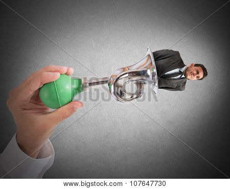 Exhausted and bother businessman