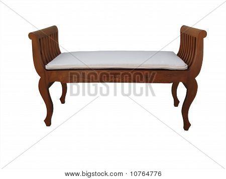 wooden bedroom stool