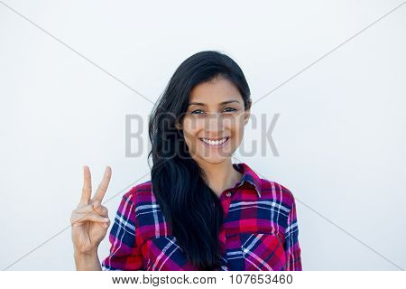Two Or Peace Sign