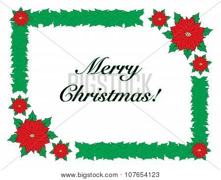 Merry Christmas greeting with border