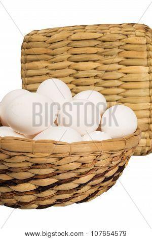 Eggs In A Wattled Basket