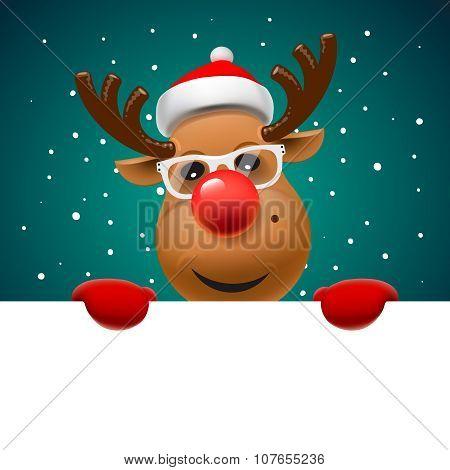 Greeting card, Christmas card with reindeer