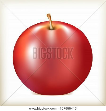 apple of red