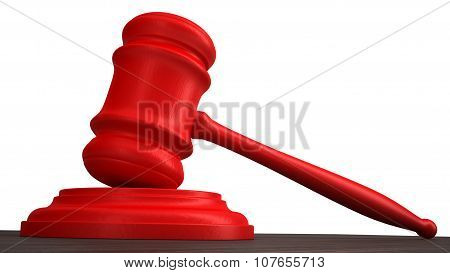 Red gavel 3d render