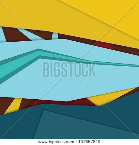 Modern material design background template