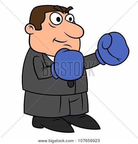 Businessman with boxing gloves 3