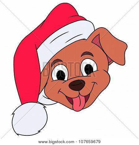 Little puppy with Santa hat 3