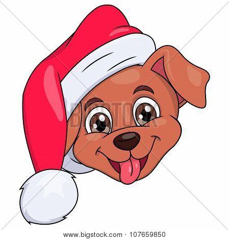 Little puppy with Santa hat 4