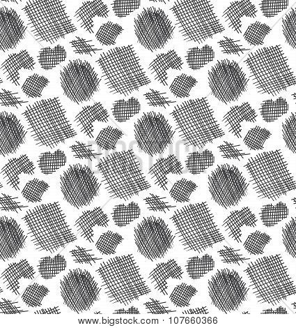 Vector Black Graphic Patch Fabric Seamless Pattern, Monochrome Textured Background For Web, Wrapping