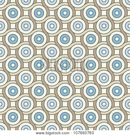 Retro Pattern With Lines And Circles