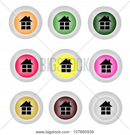 Home icon . Flat design vector illustration .