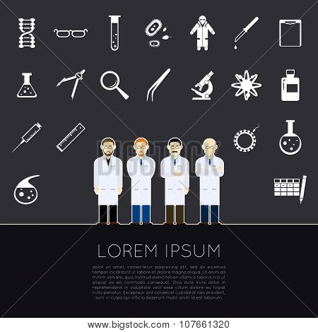 Vector Scientists icons