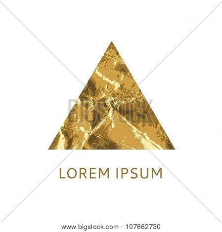 Gold Triangular Logo