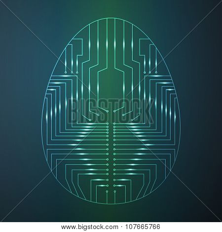 Easter egg in the form of printed circuit board