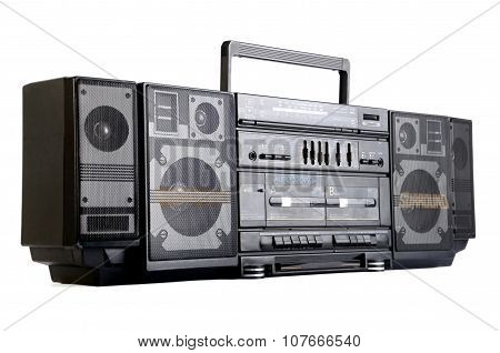 Hip Hop Surround Sound Radio Isolated On White
