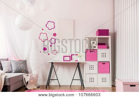 Fashionable Room With Modern Furniture